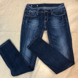 Rerock for Express distressed skinny jean